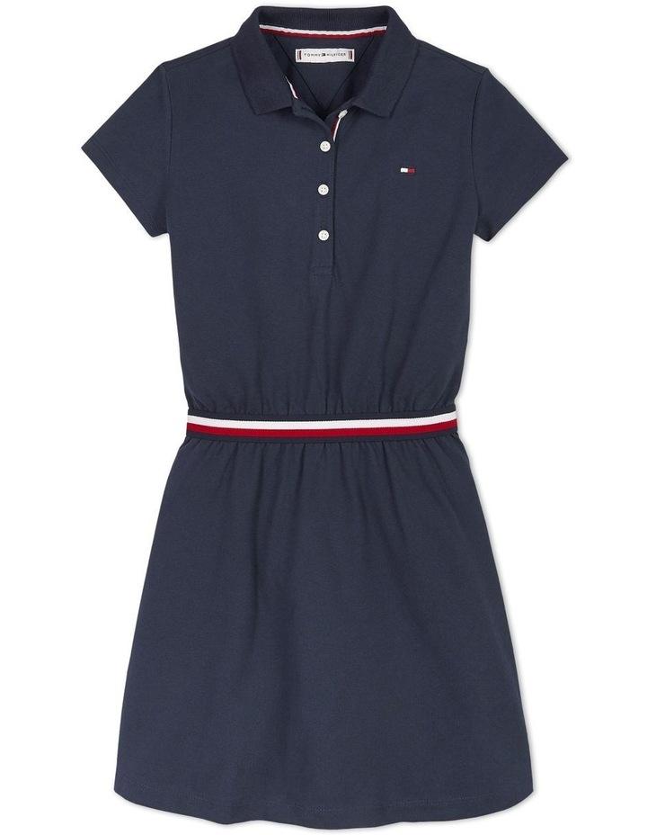 Global Stripe  Polo Dress Short Sleeve image 1