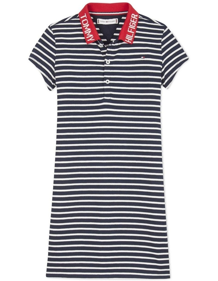 Collar Detail Polo Dress Short Sleeve image 1