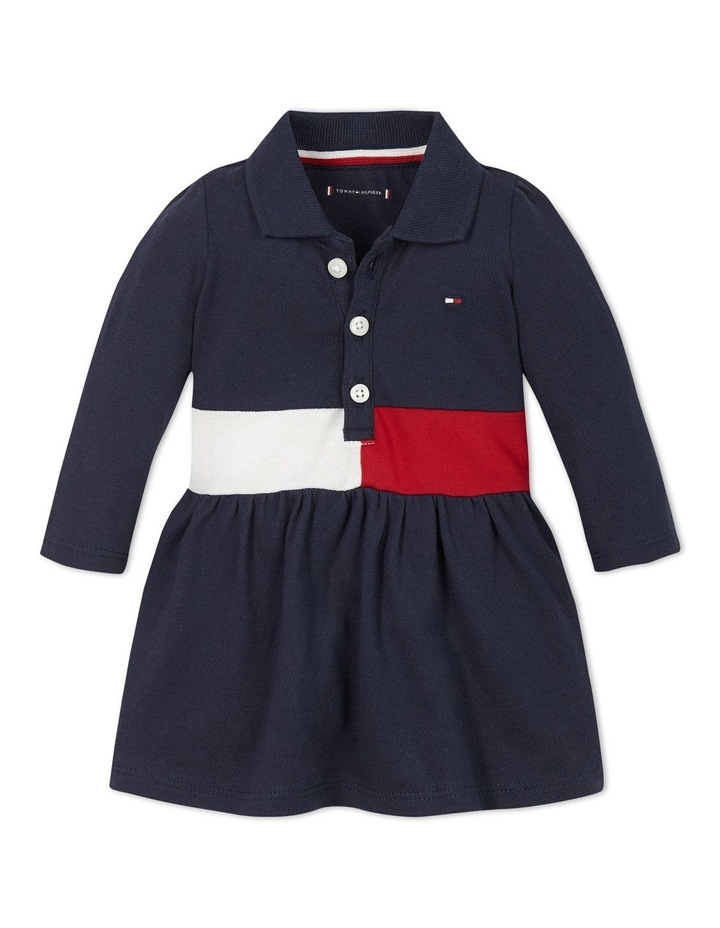 Baby Block Polo Dress Long Sleeve image 1