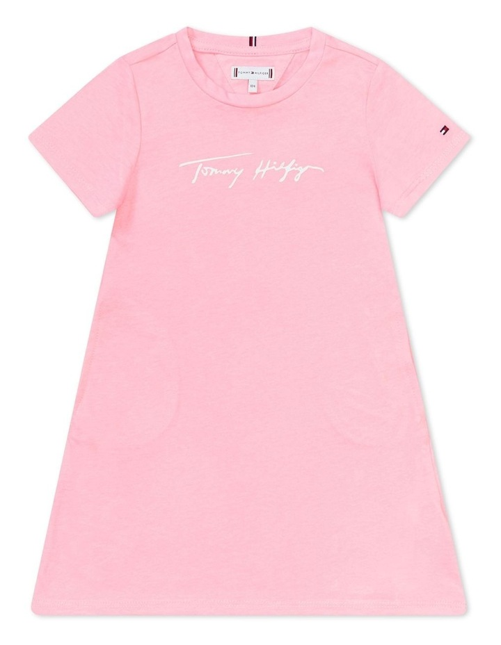 Signature Logo Organic Cotton T-Shirt Dress image 1