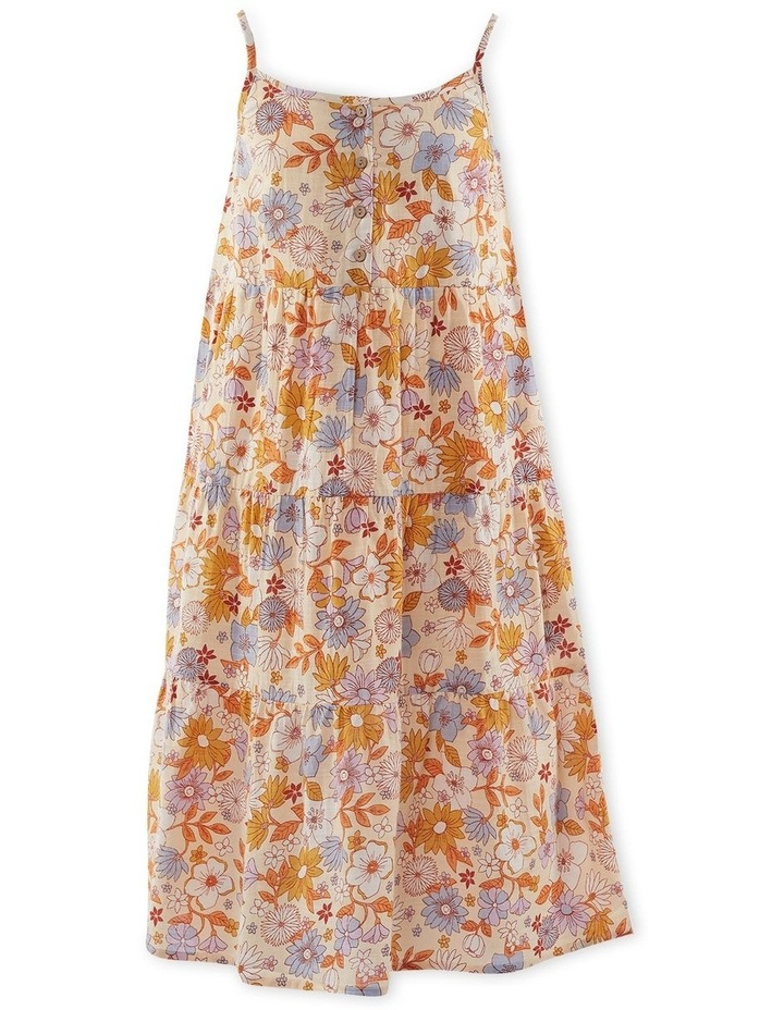 Vintage Floral Dress 8-16 image 1