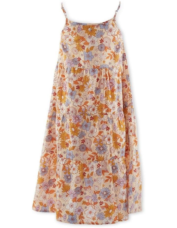 Vintage Floral Dress 8-16 image 2