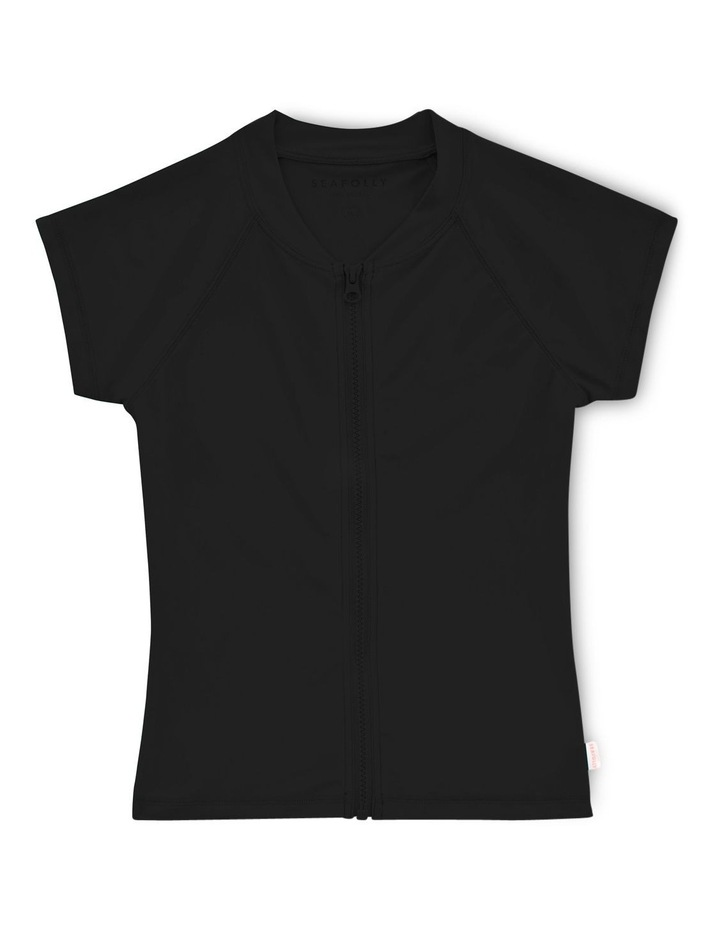 Summer Essentials Short Sleeve Zip Front Rashie image 1