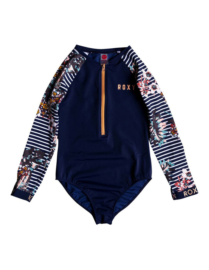 Keep In Flow - Long Sleeve UPF 50 Zipped One-Piece Rashguard image 1