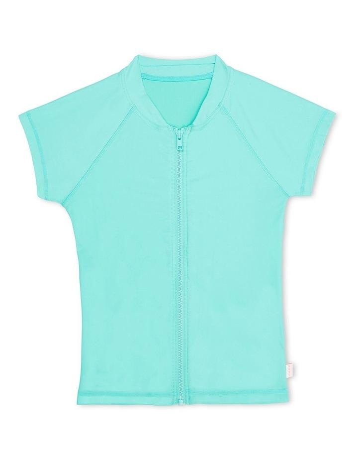 Summer Essentials Short Sleeve Zip Front Rashie image 1