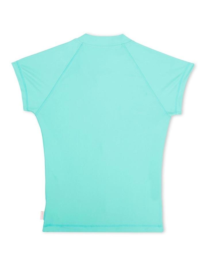 Summer Essentials Short Sleeve Zip Front Rashie image 2