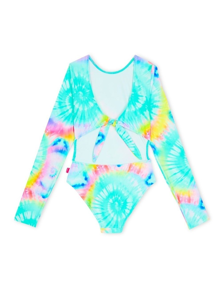 Cali Dreamer Long Sleeve Cut Out Surf Tank One Piece image 2