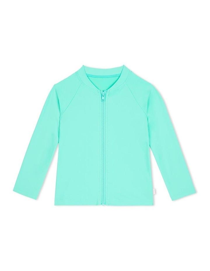 Summer Essentials Long Sleeve Zip Front Rashie image 1