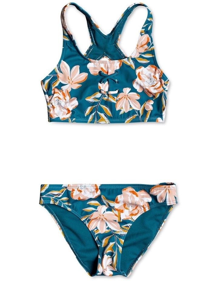 Summer of Surf Crop Top Bikini Set for Girls image 1