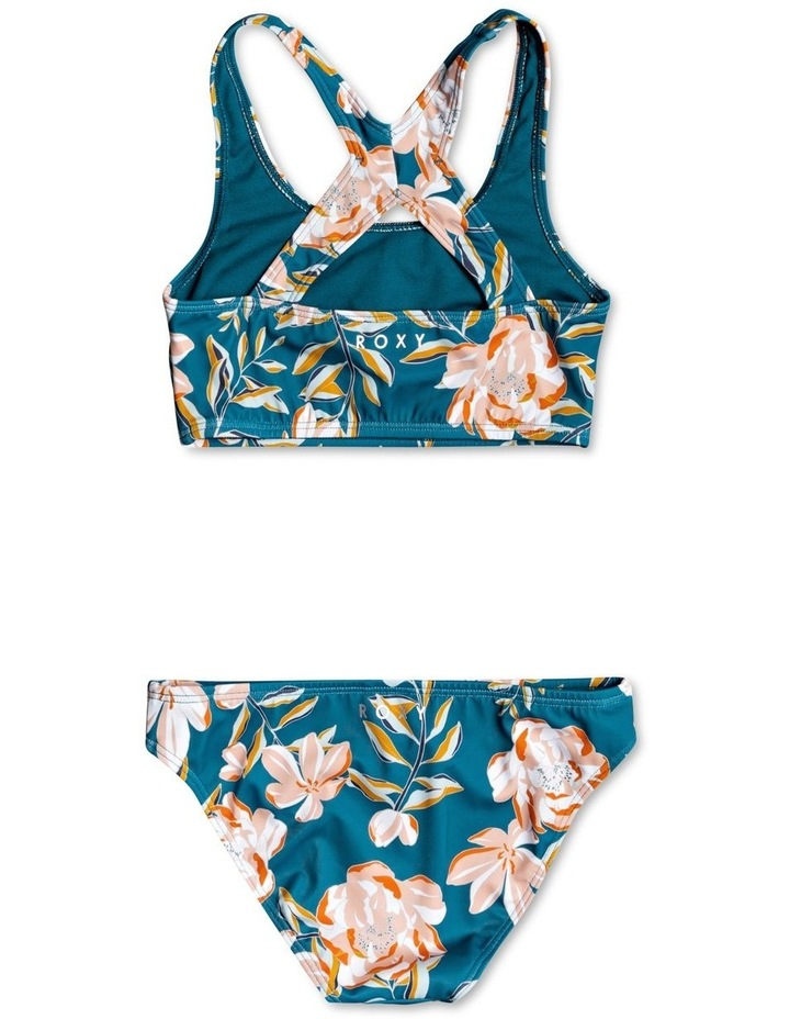 Summer of Surf Crop Top Bikini Set for Girls image 2