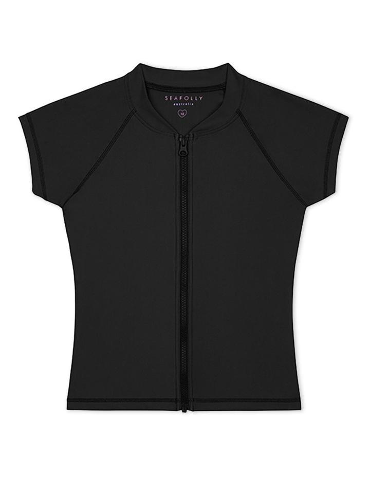 Short Sleeve Zip Front Rashie image 1