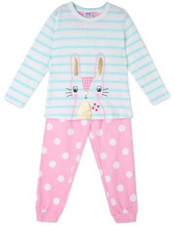 Milkshake Bunny Face Striped Pyjama 47325ad59