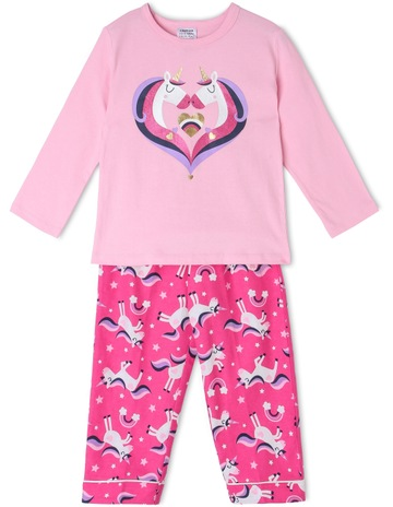 6a32580540 Milkshake Unicorn Heart Pyjama