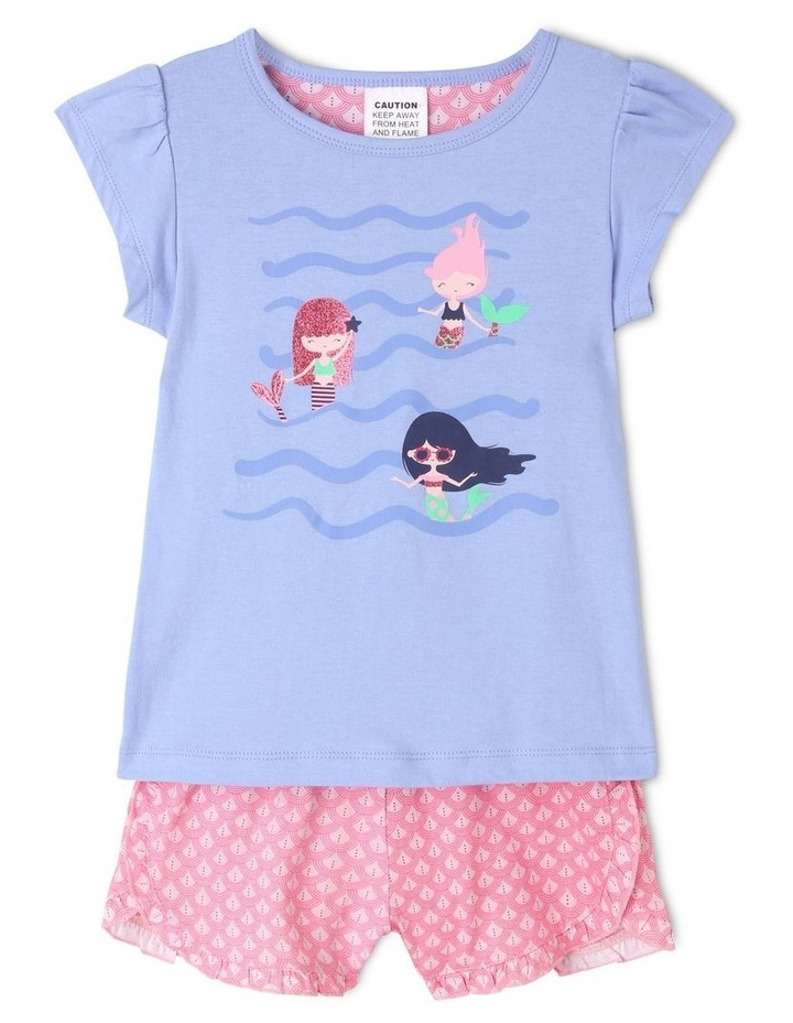 Girls Three Mermaids Pyjama Set image 1