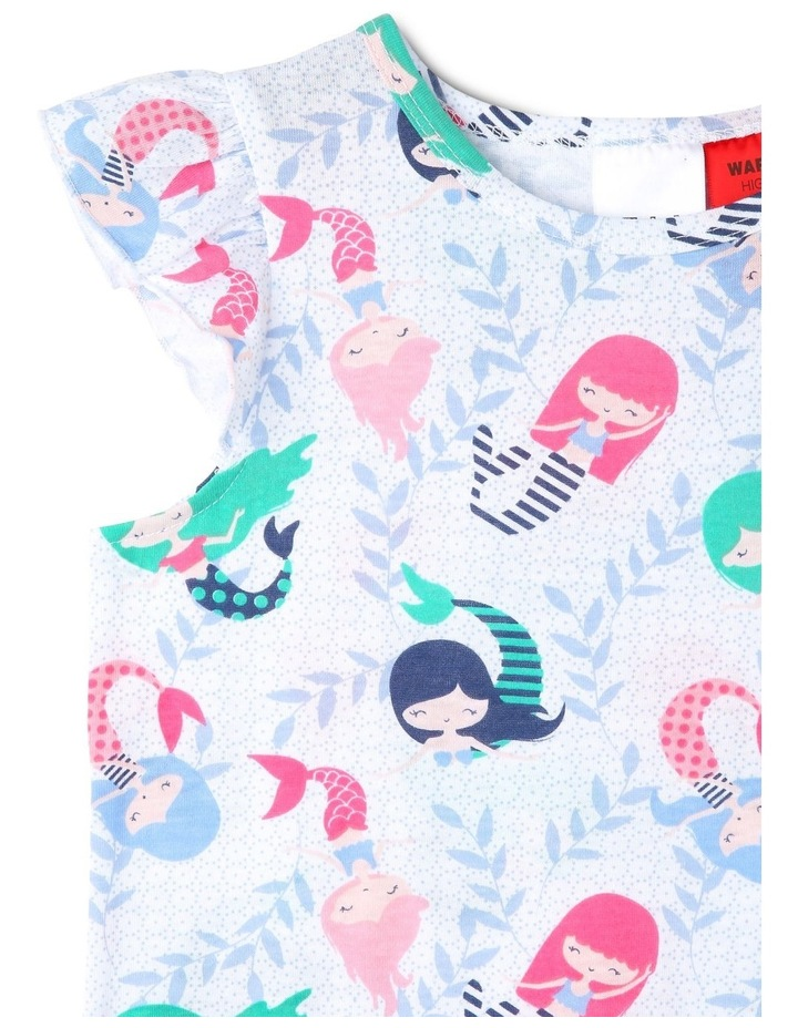 Girls Mermaid Print Frill-Sleeve Nightie image 2