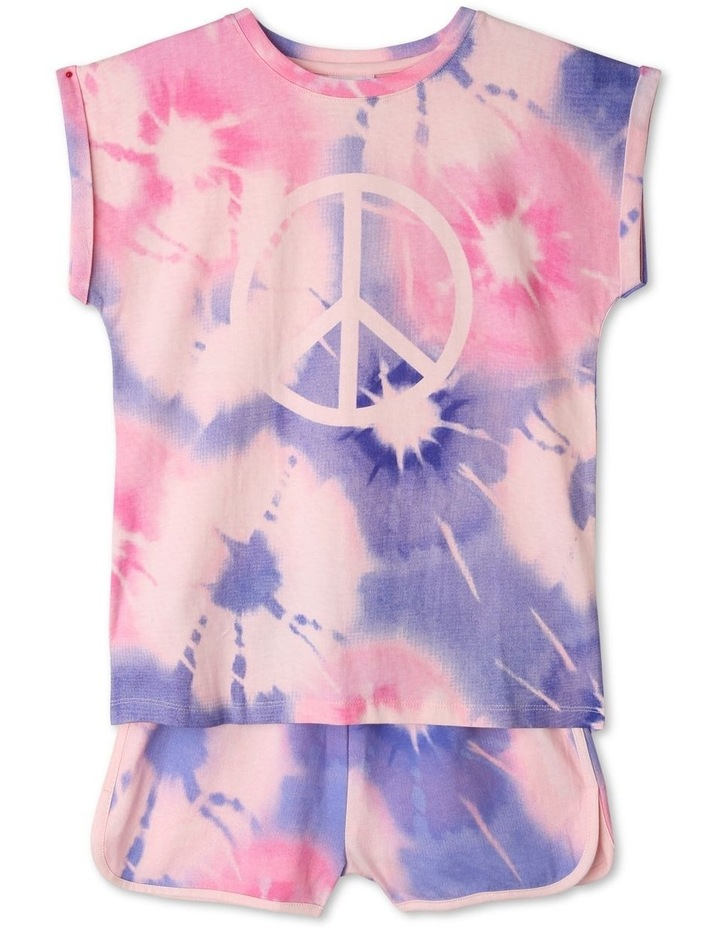 Peace Sign Tie-Dye Pyjama Set image 1