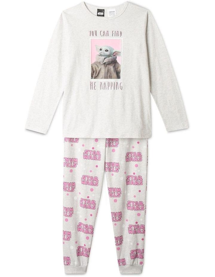Napping Baby Yoda Grey Pyjamas Set image 1