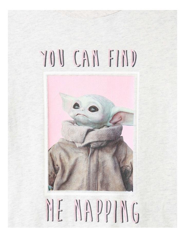 Napping Baby Yoda Grey Pyjamas Set image 2