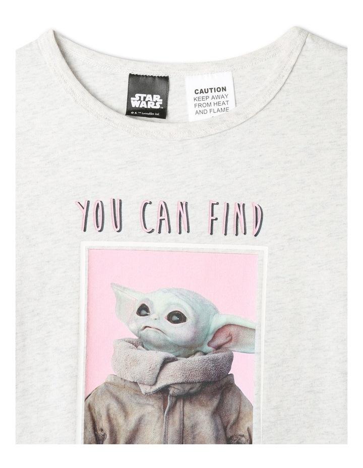 Napping Baby Yoda Grey Pyjamas Set image 3
