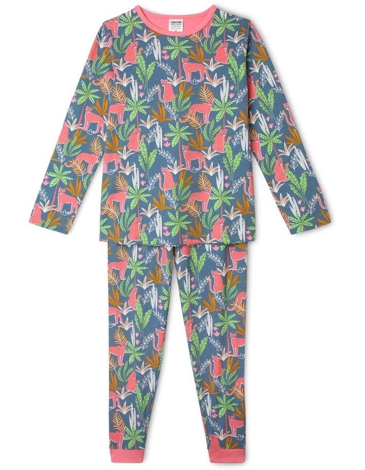 Jungle Wildcats Blue Pyjamas Set image 1