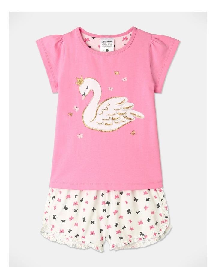 Starry Swan Pyjamas Set Pink image 1