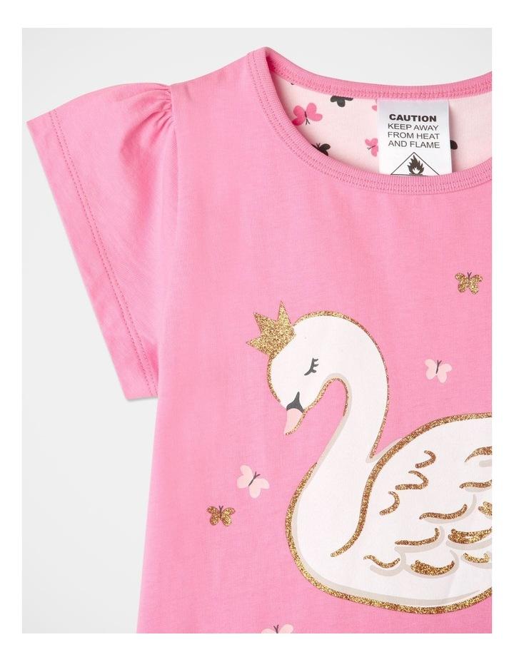 Starry Swan Pyjamas Set Pink image 2