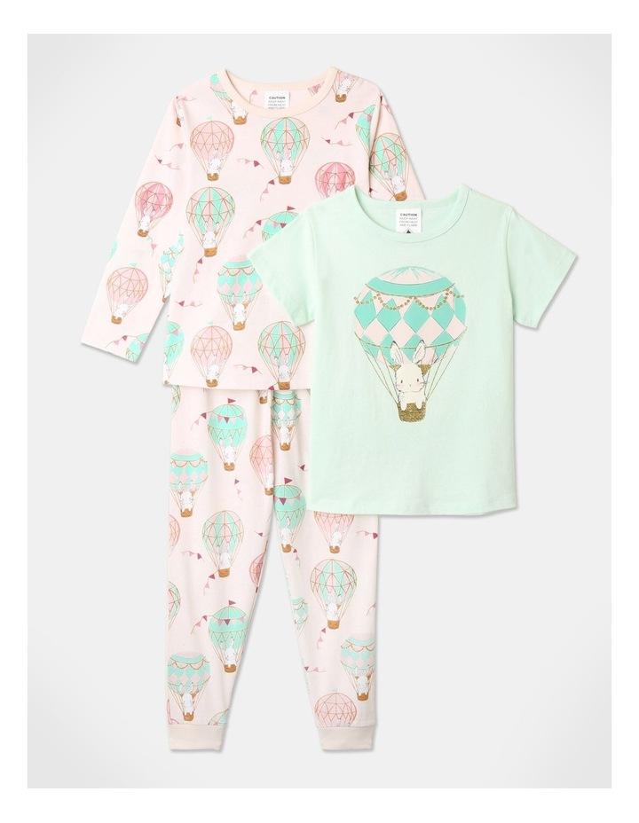 Balloon Bunnies 3-Piece Pyjama Set in Light Pink image 1