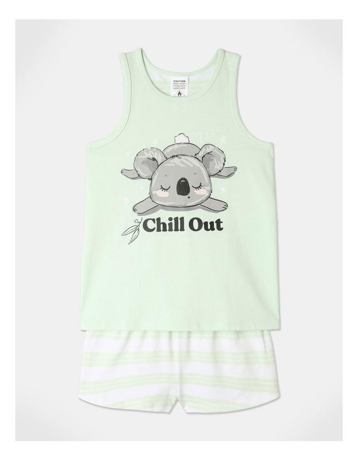 Koala Chill Out Pyjamas Set Aqua image 1