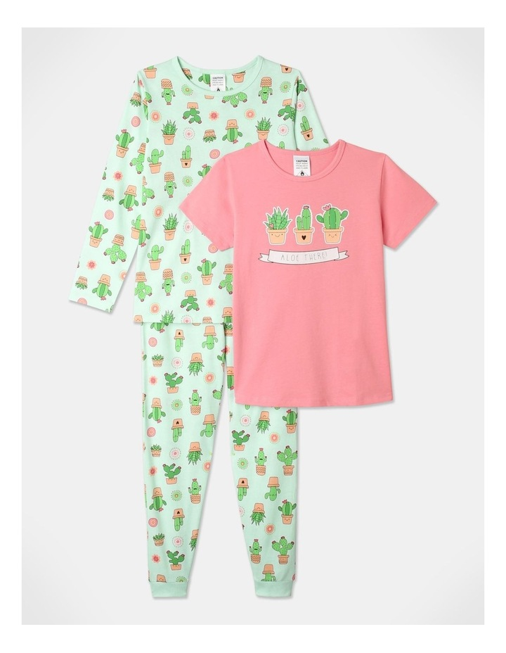 Aloe There 3-Piece Pyjama Set in Aqua image 1