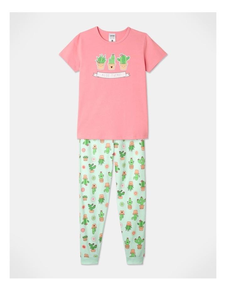 Aloe There 3-Piece Pyjama Set in Aqua image 3
