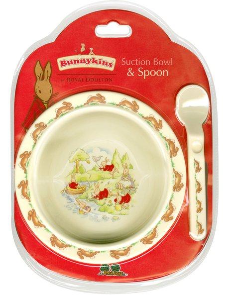 ABC Melamine Suction Bowl with Spoon Set image 1