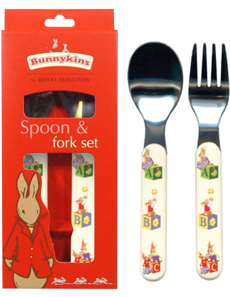 ABC Melamine Spoon & Fork Set image 1