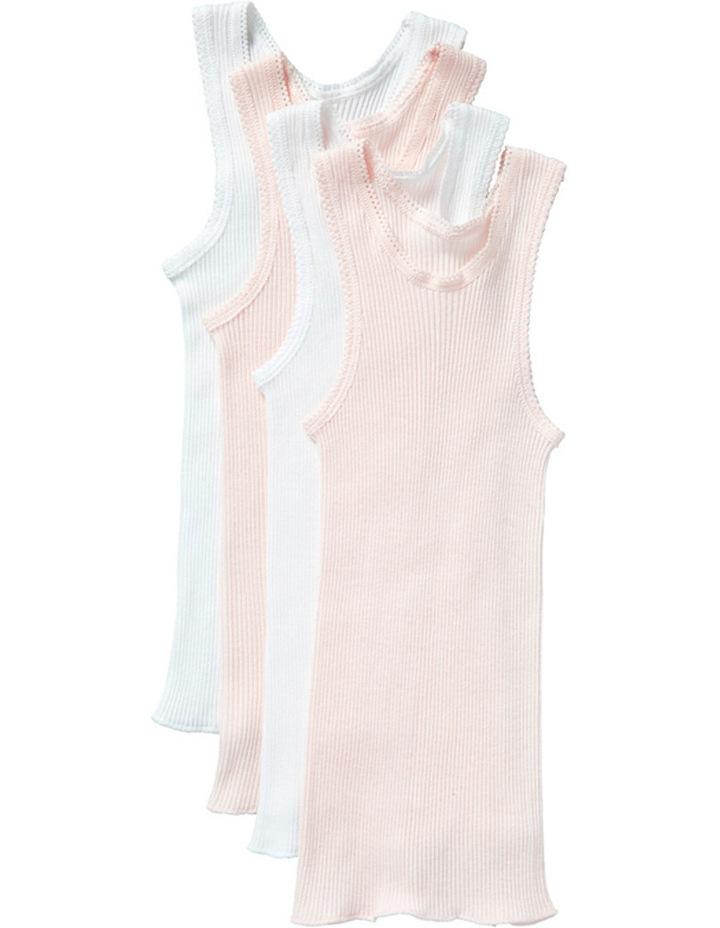 Girls Baby Vest 4pk image 1