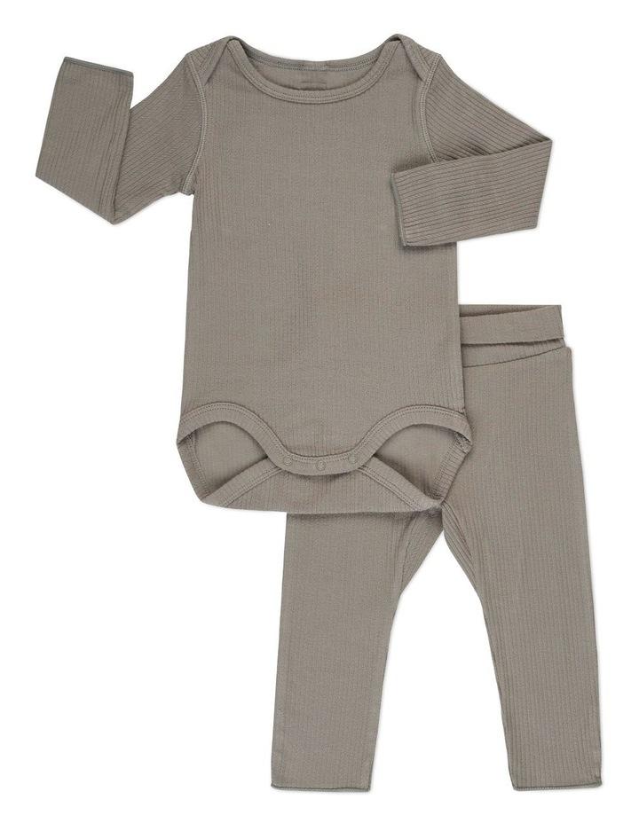 Pointelle Long Sleeve Bodysuit And Legging Set image 1