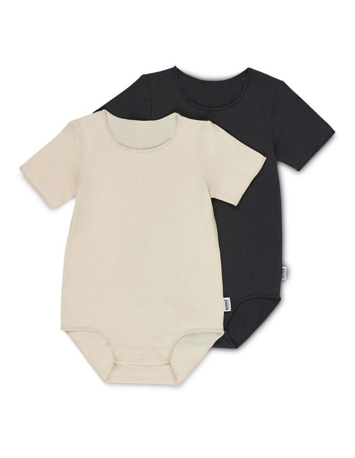 Organic Short Sleeve Bodysuit 2 Pack image 1