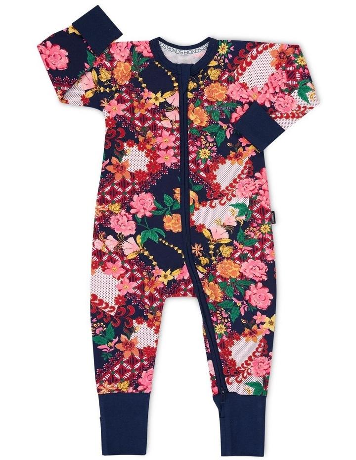 Floral Zip Wondersuit Navy image 1