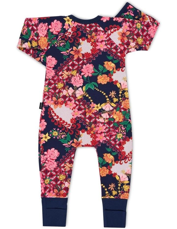 Floral Zip Wondersuit Navy image 2