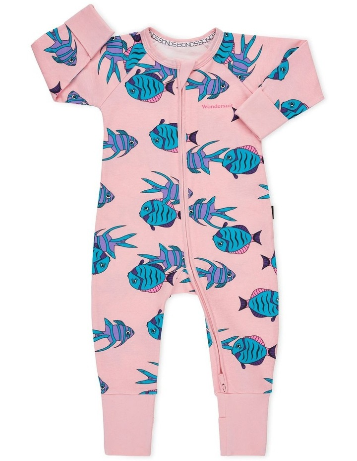 Fish Zip Wondersuit Pink image 1