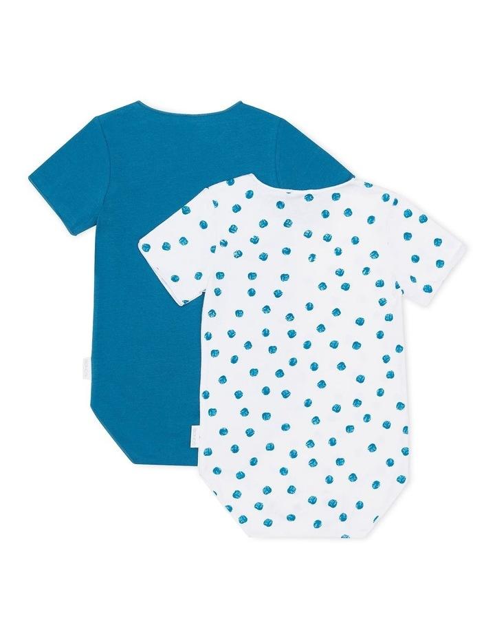 Wonderbodies Short Sleeve Bodysuit 2 Pack Blue/Blue Spots image 2