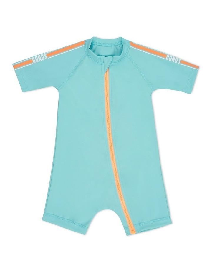 Baby Swim Short Sleeve Zip Suit image 1