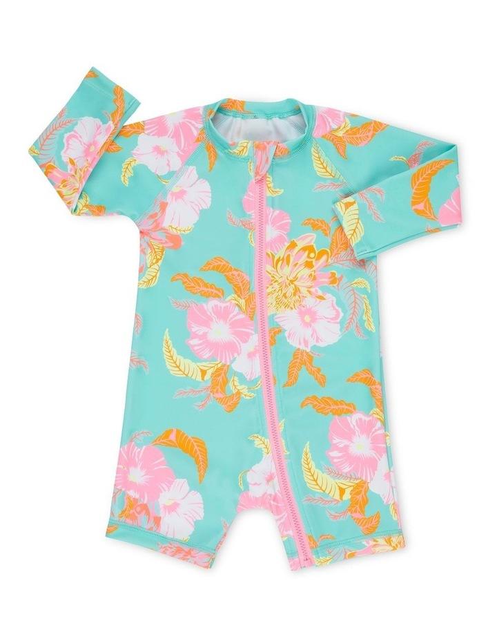 Baby Swim Long Sleeve Zip Suit image 1