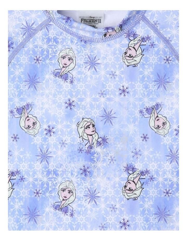 Frozen Short-Sleeve Rashie & Bikini Swim Set image 2