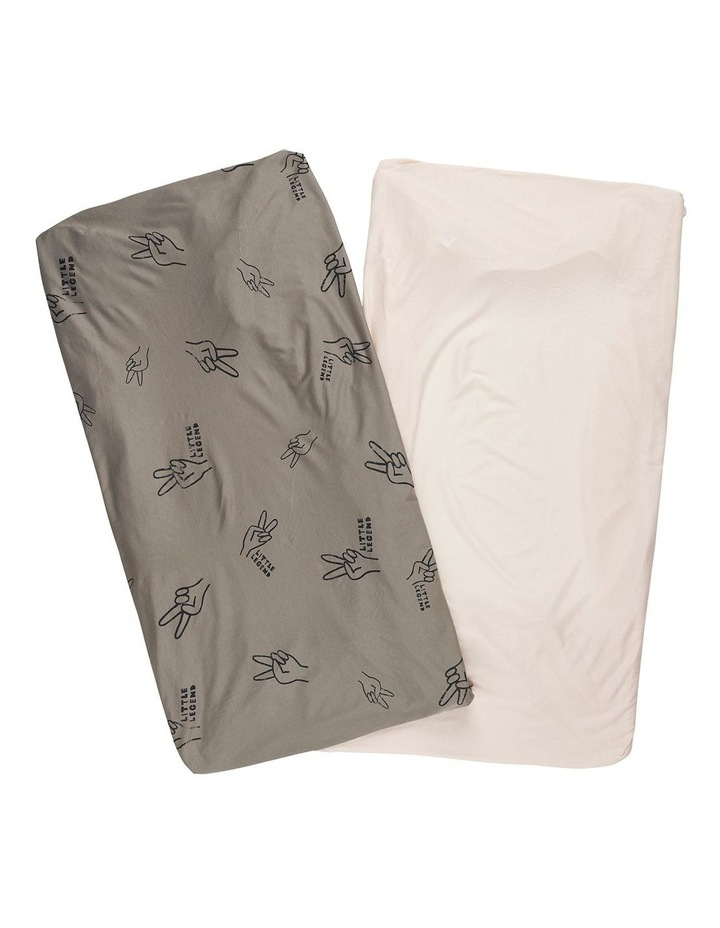 ORGANICS FITTED COT SHEET 2 PACK image 1