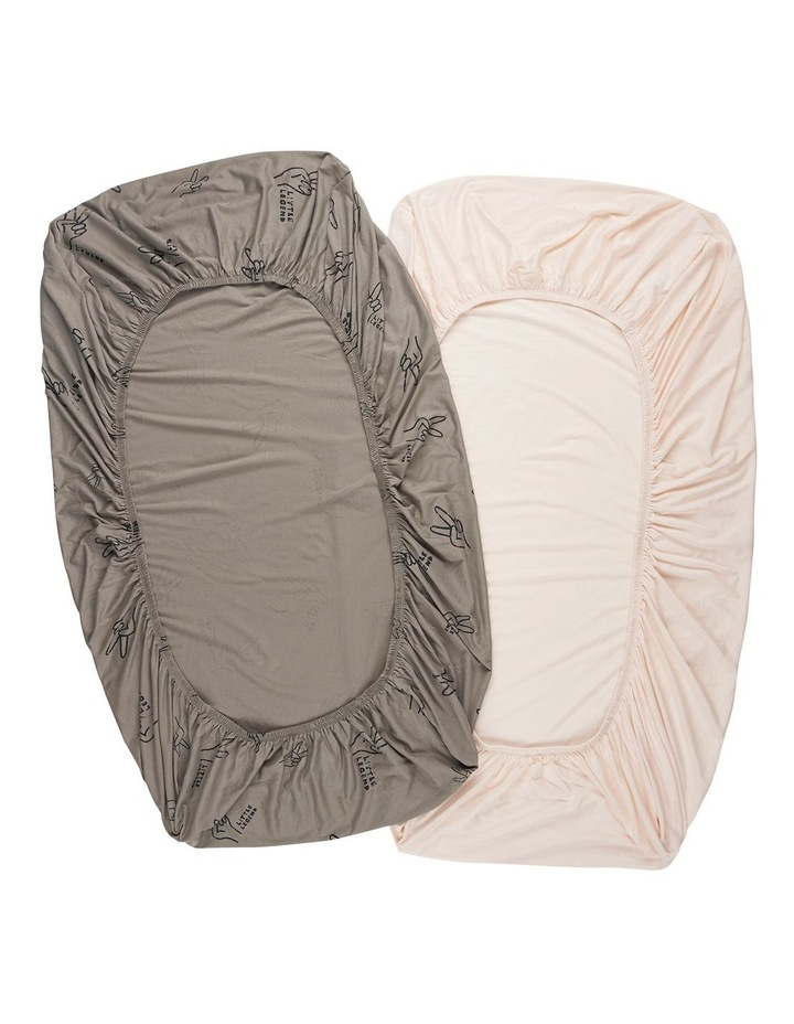 ORGANICS FITTED COT SHEET 2 PACK image 2