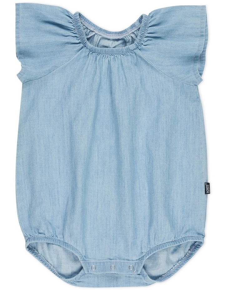 CHAMBRAY FRILL BUBBLESUIT image 1