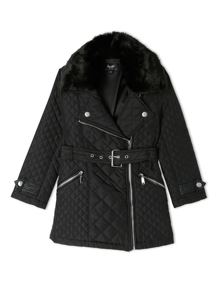 Quilted Fur Coat 3-7 image 1