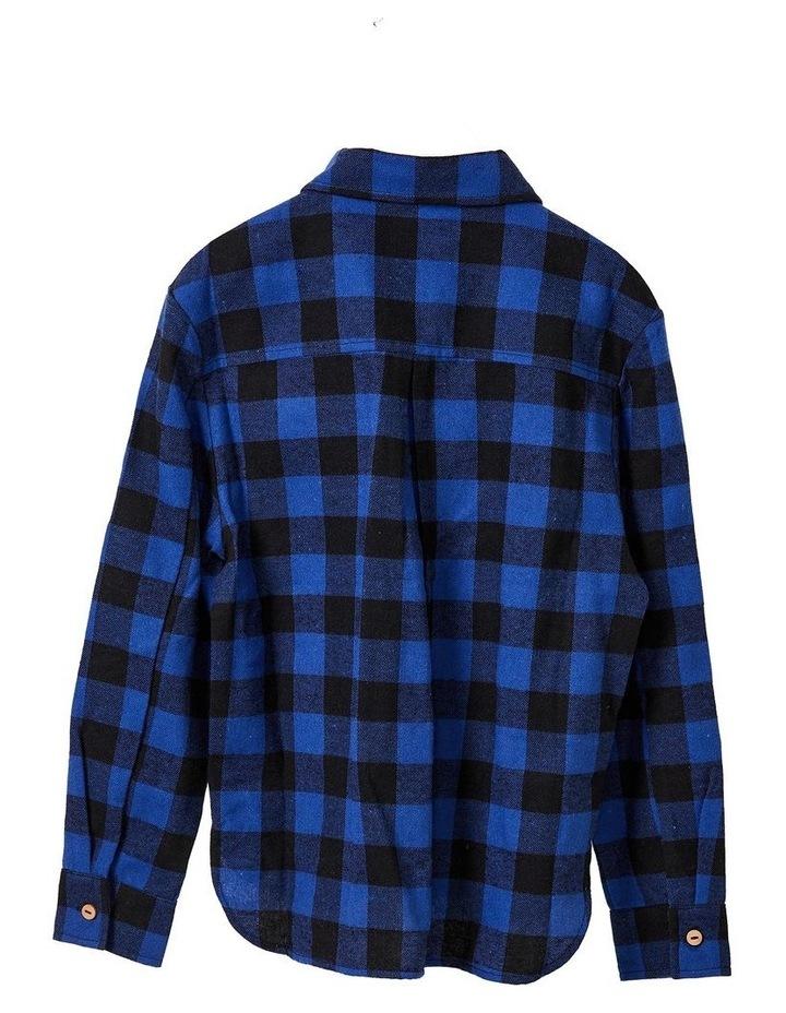 Nicolette Check Shirt Dress Blue image 2
