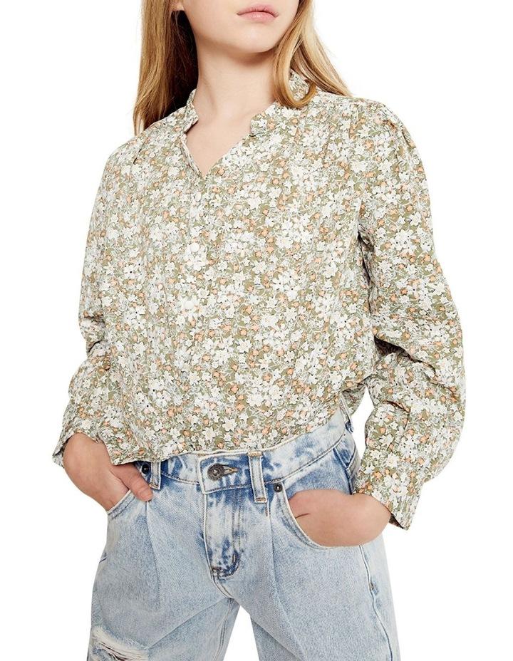 Serenity Floral Shirt Khaki image 1
