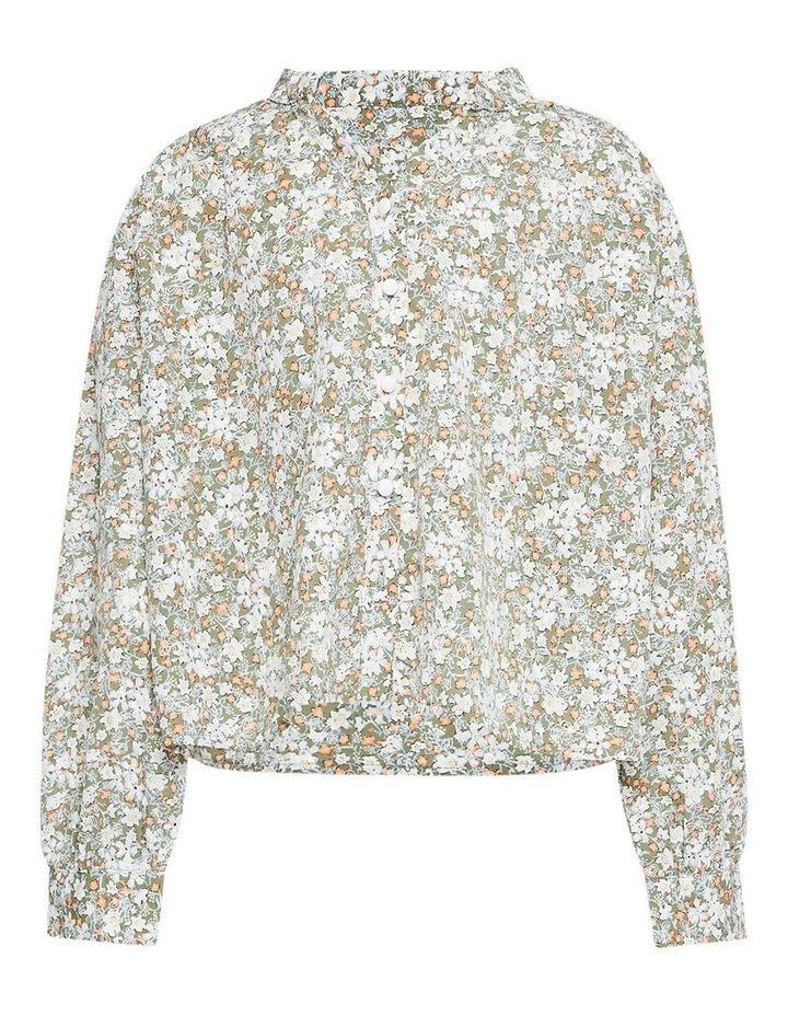 Serenity Floral Shirt Khaki image 2