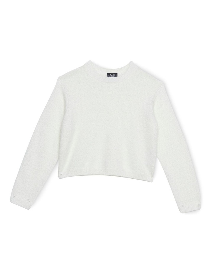 Cropped Fluffy Knit image 1